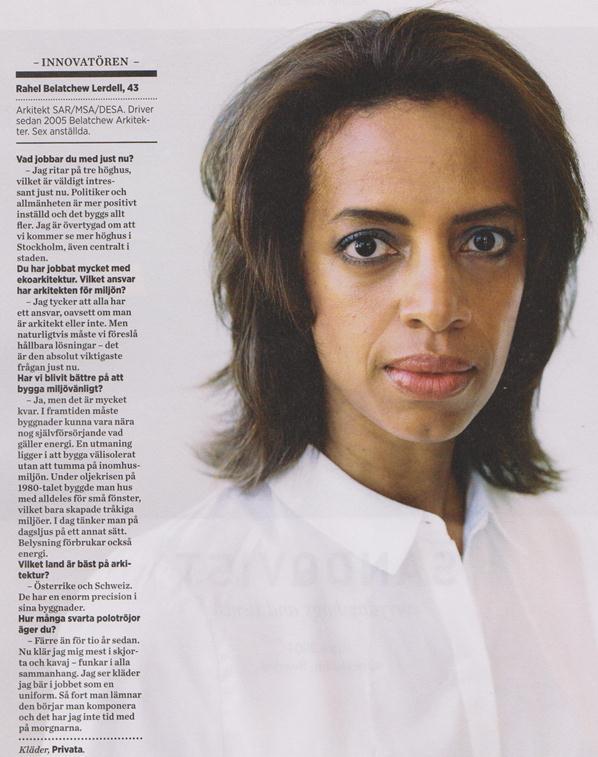 Rahel Belatchew portrayed in Icon Magazine