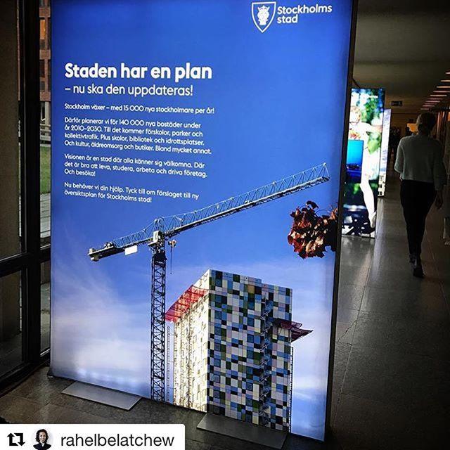 Vi tycker det är kul att Stockholms stad valt att illustrera arbetet med en ny översiktsplan med vårt studenttorn i Tensta! #tensta #stockholm #arkpol #arkitekt #arkitektur #byggande #stadsplanering #byggpol #belatchew