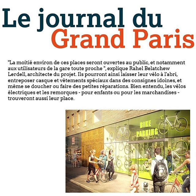 'Le journal du Grand Paris' reports on our bike garage in Stockholm.  More http://bit.ly/lejournaldugrandparis  #paris #lejournaldugrandparis #grandparis #velo #bike #bikes #bicycles #bicycle #södermalm #stockholm #park #parking #belatchew #architecture #arkitektur