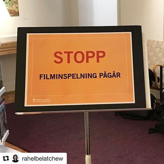 #Repost @rahelbelatchew ・・・ Innan skylten kom upp och vi filmades, hade jag förmånen att delta i ett rundabordsamtal om en ny arkitekturpolitik hos kulturminister @alicebahkuhnke Mycket givande! Ser fram emot regeringens prop. #arkpol