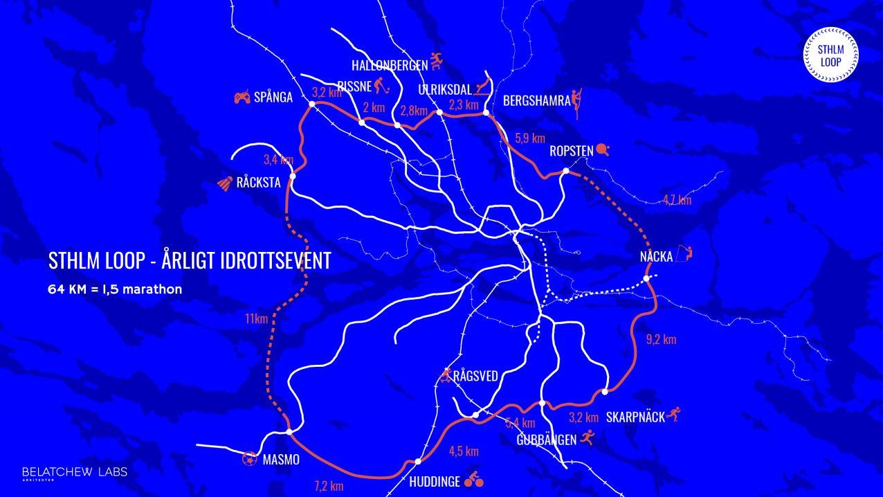 Belatchew Labs - Stockholm Loop - Tolv aktiverade stadsdelar (årligt idrottslopp)